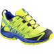 Salomon Junior XA Pro 3D CSWP Shoes Acid Lime/Surf the Web/Tropical Green